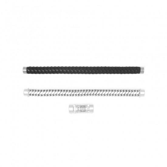Buddha to Buddha 008BL-F+ Ben Customized Set Silver & Leather Black MAAT 22cm - 45885