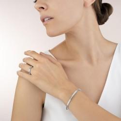 Coeur de Lion Armband roestvrij staal zilver & kristallen pavé kristal - 47586