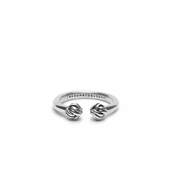 Buddha to Buddha 013 Refined Katja Ring Silver MAAT 17 - 43362