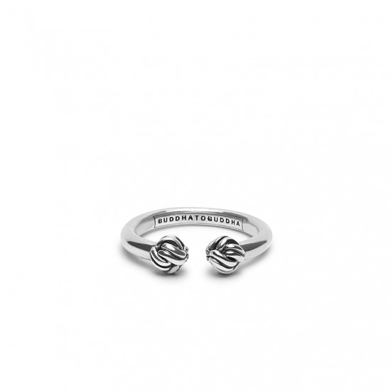 Buddha to Buddha 013 Refined Katja Ring Silver MAAT 18 - 43363