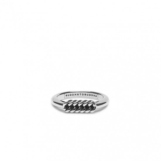 Buddha to Buddha 016 Refined Chain Ring Silver MAAT 17 - 43601