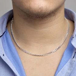 Zilveren Collier geslepen gourmette 5,0 mm MAAT 50cm - 45995