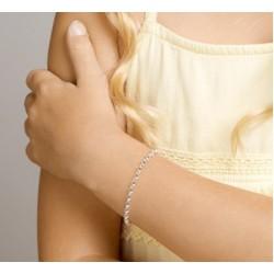 Zilveren Armband jasseron 17cm - 46249