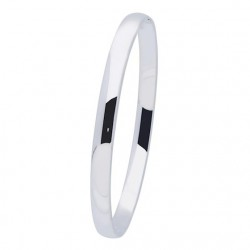 Silver Lining Zilveren bangle solid 6mm ovaal 60mm - 45357