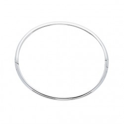 Silver Lining Zilveren bangle solid 7mm ovaal 60mm - 45358