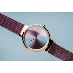 Bering Anniversary polished rose gold horloge 31mm - 46645