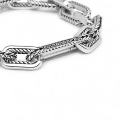 Buddha to Buddha 117-C+ Barbara Link Small Bracelet Silver MAAT 17cm - 40388