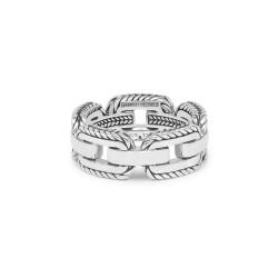 Buddha to Buddha 118 Barbara Link Ring Silver MAAT 17 - 46628