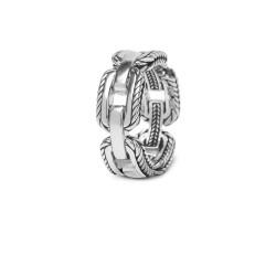 Buddha to Buddha 118 Barbara Link Ring Silver MAAT 20 - 46632