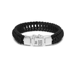 Buddha to Buddha 122BL-F Lars Leather Black Bracelet MAAT 21cm - 46317