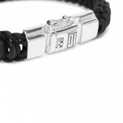 Buddha to Buddha 122BL-F Lars Leather Black Bracelet MAAT 21cm - 46317