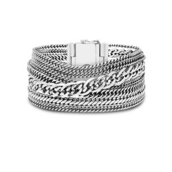 Buddha to Buddha 124 C+ Multi Chain Nathalie Bracelet Silver MAAT 17cm - 46590