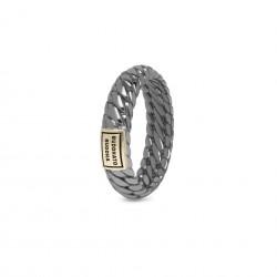 Buddha to Buddha 125BR SG Ben XS Ring Black Rhodium Shine Gold 14kt MAAT 18 - 46612