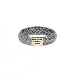 Buddha to Buddha 125BR SG Ben XS Ring Black Rhodium Shine Gold 14kt MAAT 19 - 46616