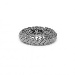 Buddha to Buddha 125BR SS Ben XS Ring Black Rhodium Shine Silver MAAT 18 - 46606