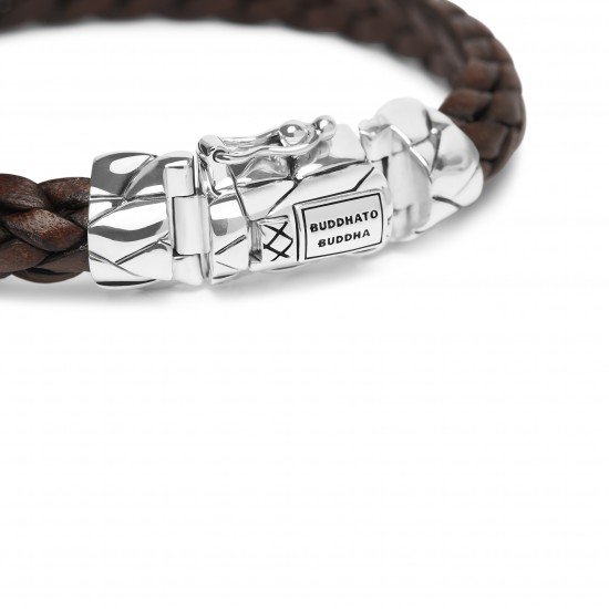 Buddha to Buddha 126BR-E+ Mangky Small Leather Bracelet Brown MAAT 20cm - 46638