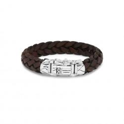 Buddha to Buddha 127BR-G Mangky Leather Bracelet Brown MAAT 23cm - 46603