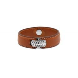 Buddha to Buddha 130BR-F Anggun Leather Brown Bracelet MAAT 21cm - 45106