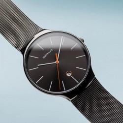 BERING Classic polished grey horloge 38mm - 43617
