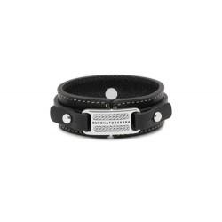 Buddha to Buddha 140BL-F Jantan Leather Black Bracelet MAAT 21cm - 45103