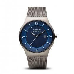 BERING Solar brushed grey horloge 40mm - 43440