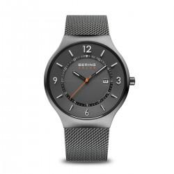 Bering Solar brushed dark grey horloge 41mm - 46651