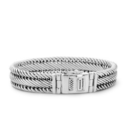 Buddha to Buddha 151-F Edwin Small Bracelet Siver MAAT 21cm - 42349