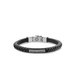 Buddha to Buddha 162BL-E Komang Small Leather Bracelet Black MAAT 19cm - 40390