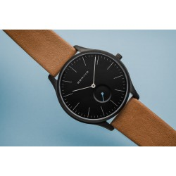 Bering Classic mat black horloge 41mm - 46648