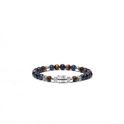 Buddha to Buddha 189MS-D Spirit Bead Mini Sodalite Tigereye Bracelet MAAT 18cm - 44643
