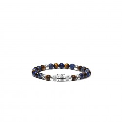 Buddha to Buddha 189MS-F Spirit Bead Mini Sodalite Tigereye Bracelet MAAT 21cm - 44644