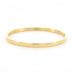 Kalli Kalli armband edelstaal Goudkleur 4mm MAAT 18cm - 47805