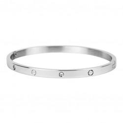 Kalli Kalli armband edelstaal Zilverkleur met Zirkonia 4mm MAAT 18cm - 47276
