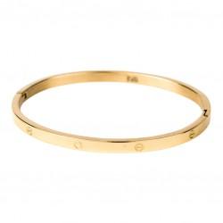 Kalli Kalli armband edelstaal Goudkleur 4mm MAAT 18cm - 47798