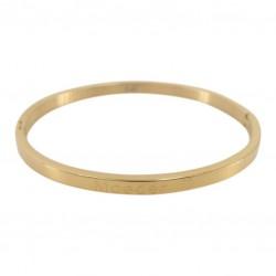Kalli Kalli armband edelstaal Goudkleur 4mm MAAT 18cm - 47804