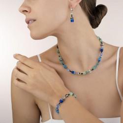 Coeur de Lion GeoCUBE® Ketting blauw-groen - 47503