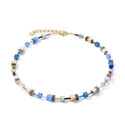Coeur de Lion GeoCUBE® Ketting blauw-goud - 47505