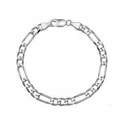Zilveren Figaro Armband 20 cm - 40075