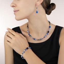 Coeur de Lion Earrings GeoCUBE® cobalt blue 4cm - 42261