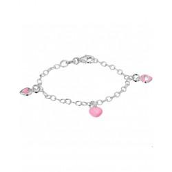 Zilveren Armband hart 13 cm - 40151