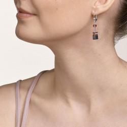 Coeur de Lion Earrings GeoCUBE® antique pink 4cm - 48364