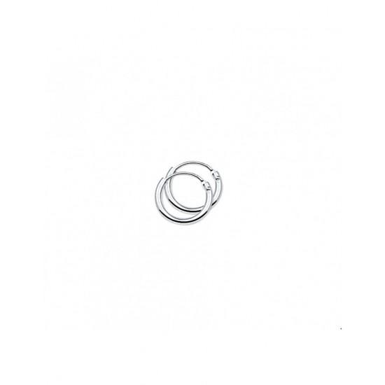 Zilveren Oorringen ronde buis - 40175