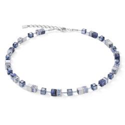 Coeur de Lion Ketting sodaliet & hematiet blauw - 46902