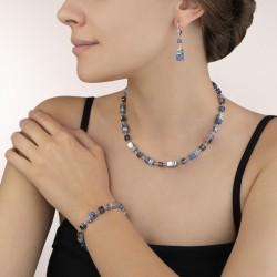 Coeur de Lion Armband sodaliet & hematiet blauw - 46905