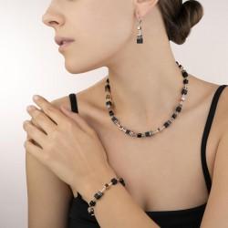 Coeur de Lion Oorbellen onyx zwart-roségoud - 43923