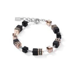 Coeur de Lion armband onyx zwart-roségoud - 43922