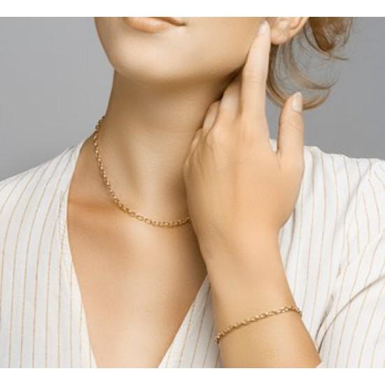 Gouden Armband anker 18,5 cm - 44792