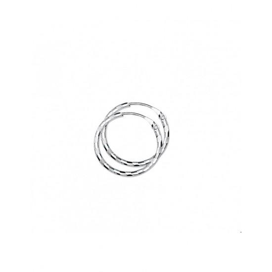 Creolen ronde buis gediamanteerd - 40197