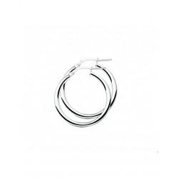 Zilver Creolen ronde buis 25mm - 40206
