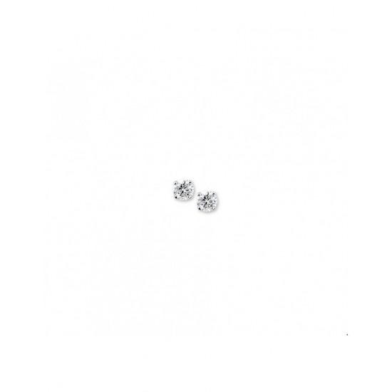 Zilver Oorknoppen zirkonia - 40260